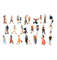 trendy people crowd modern cartoon persons and vector image