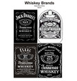 vintage alcohol whiskey brand black and white vector image vector image