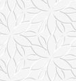 White floral perforated seamless vector image vector image