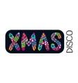 xmas disco banner vector image vector image